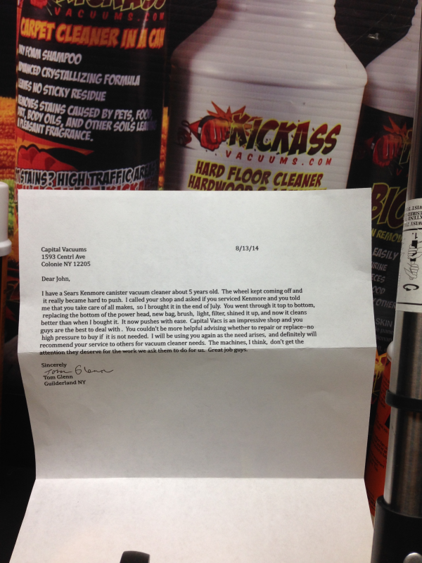 Capital Vacuums Letter