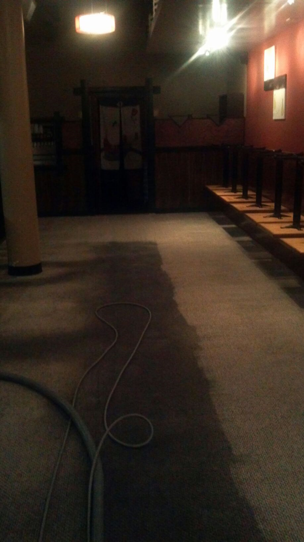 Commercial Carpet During Cleaning