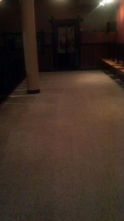 Restaurant carpet after picture