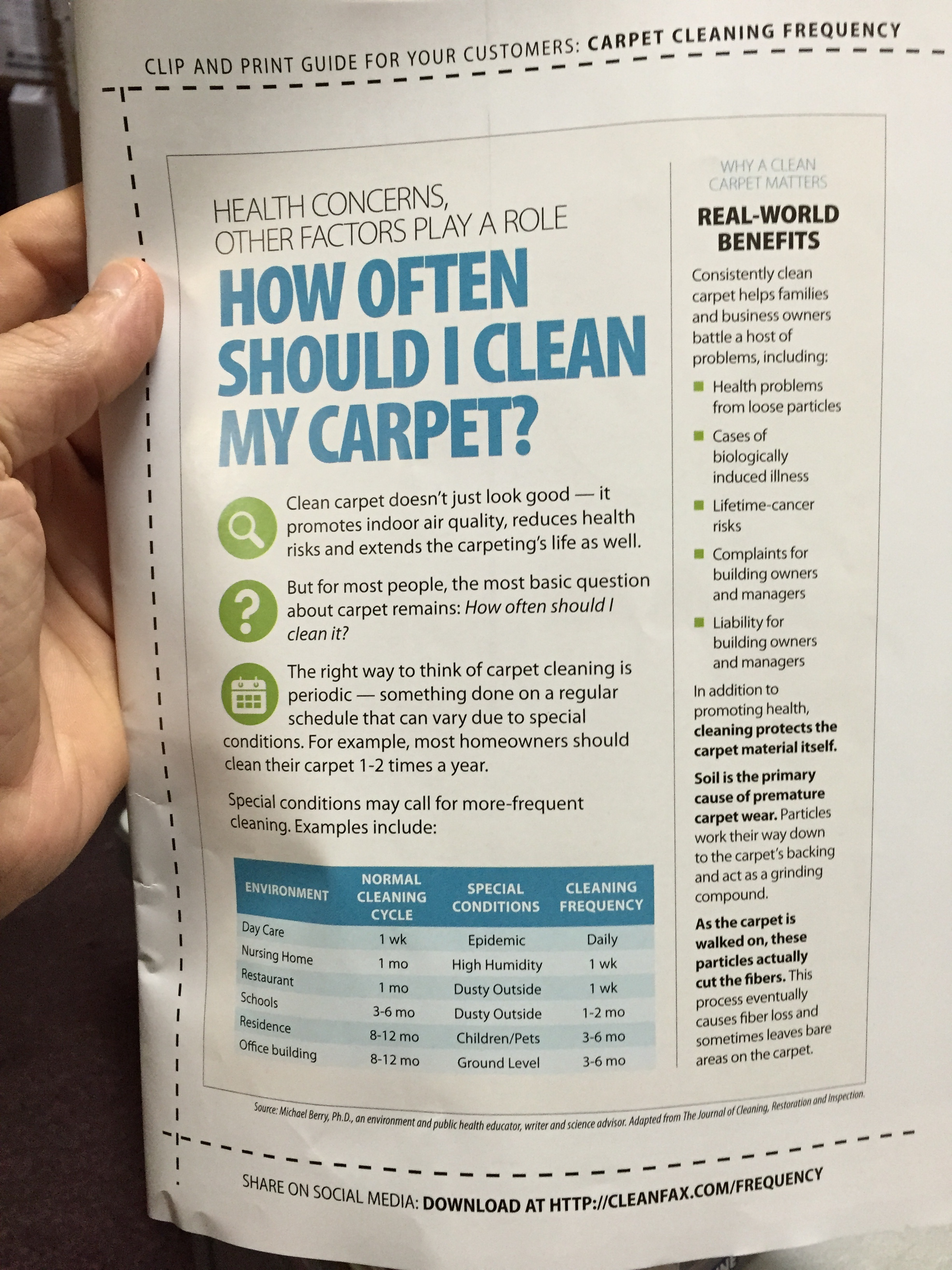 CarpetCleaningFrequency
